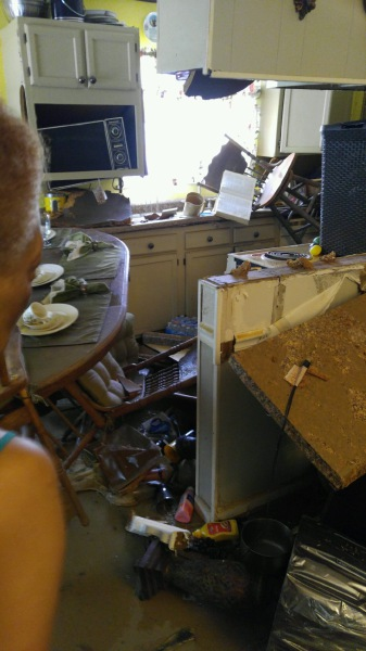 Mass destruction of Nancy Burks' home in Louisiana. She is the aunt of Soteria and Sharrah Burks.