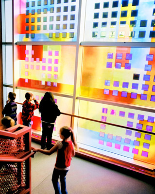 Sarah Hall's solar cells in colourful art glass provide a way to engage young students