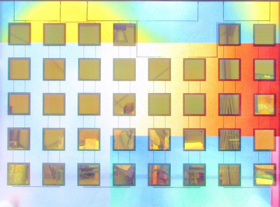 Sarah Hall's solar cells are backed with golden dichroic glass