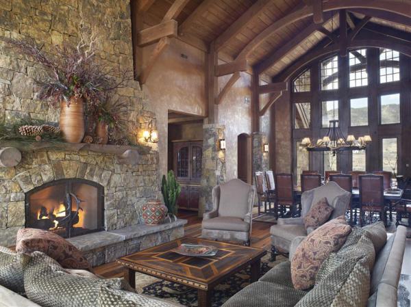 Elegant Living Room in White Deer Valley Parade of Homes