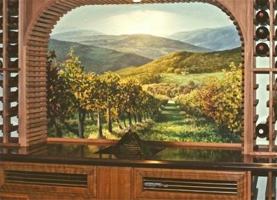 Wine Cellar Mural