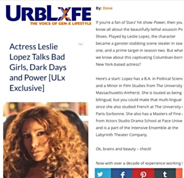 Actress Leslie Lopez