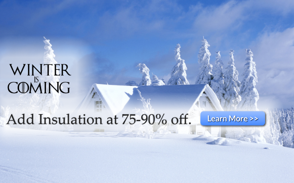 Save 75% off the cost of insulation and weatherization upgrades in your home or business.