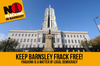 keep barnsley frack free, fracking is a matter of local democracy