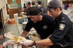 Thunder Bay Firefighter Volunteers Salvation Army