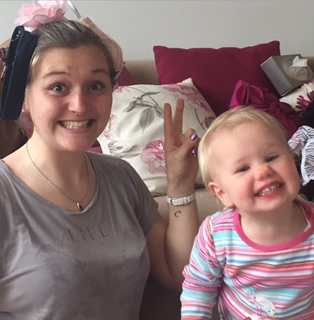 Daughter G with her nanny and aunty, Tatie Lala