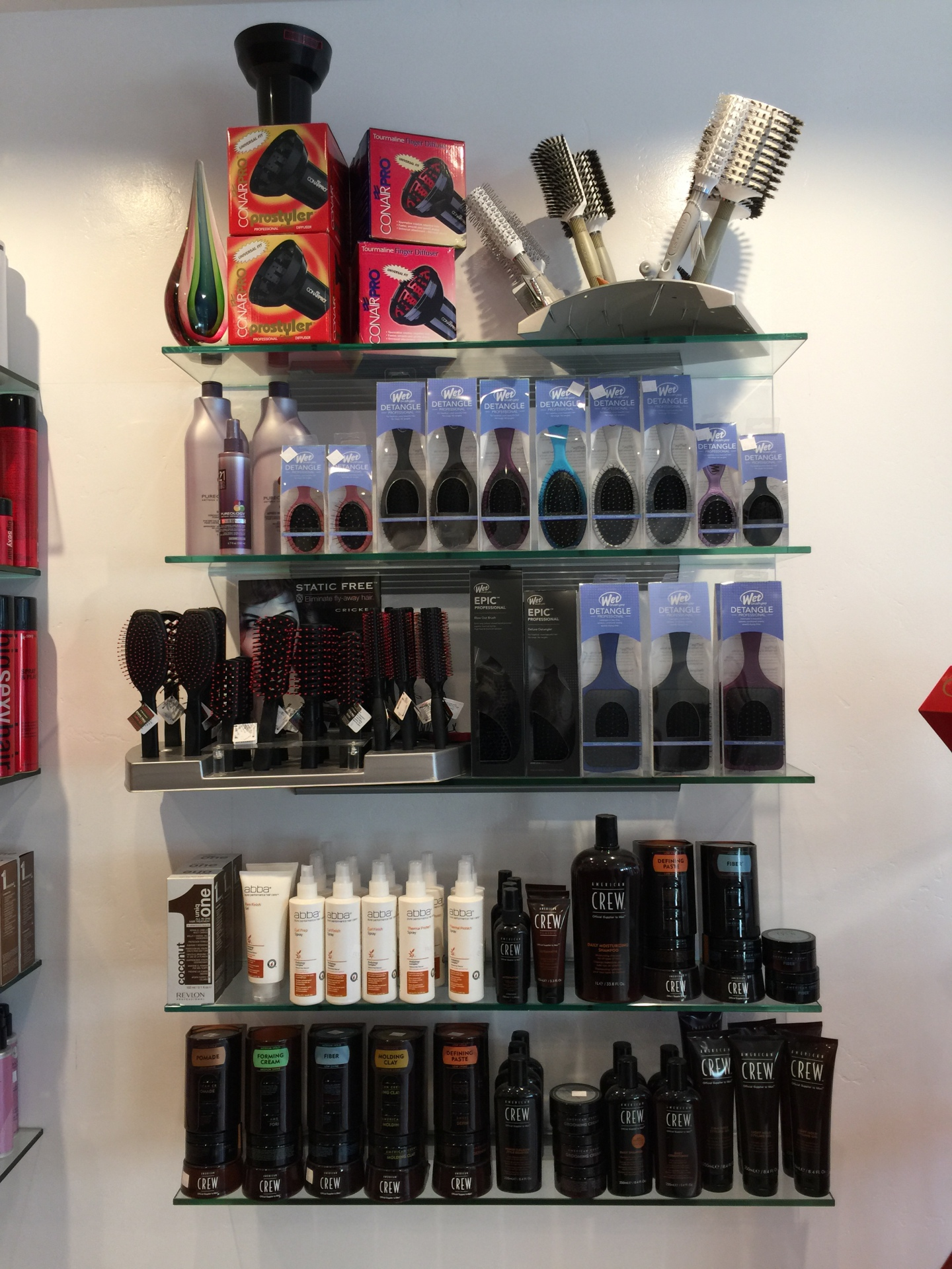 Styling tools and American Crew hair product