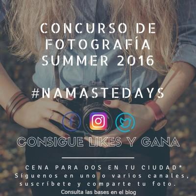 Concurso de fotografía summer 2016 #namastedays