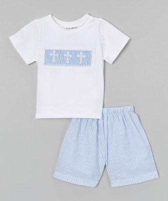 Boys Seersucker Short Set