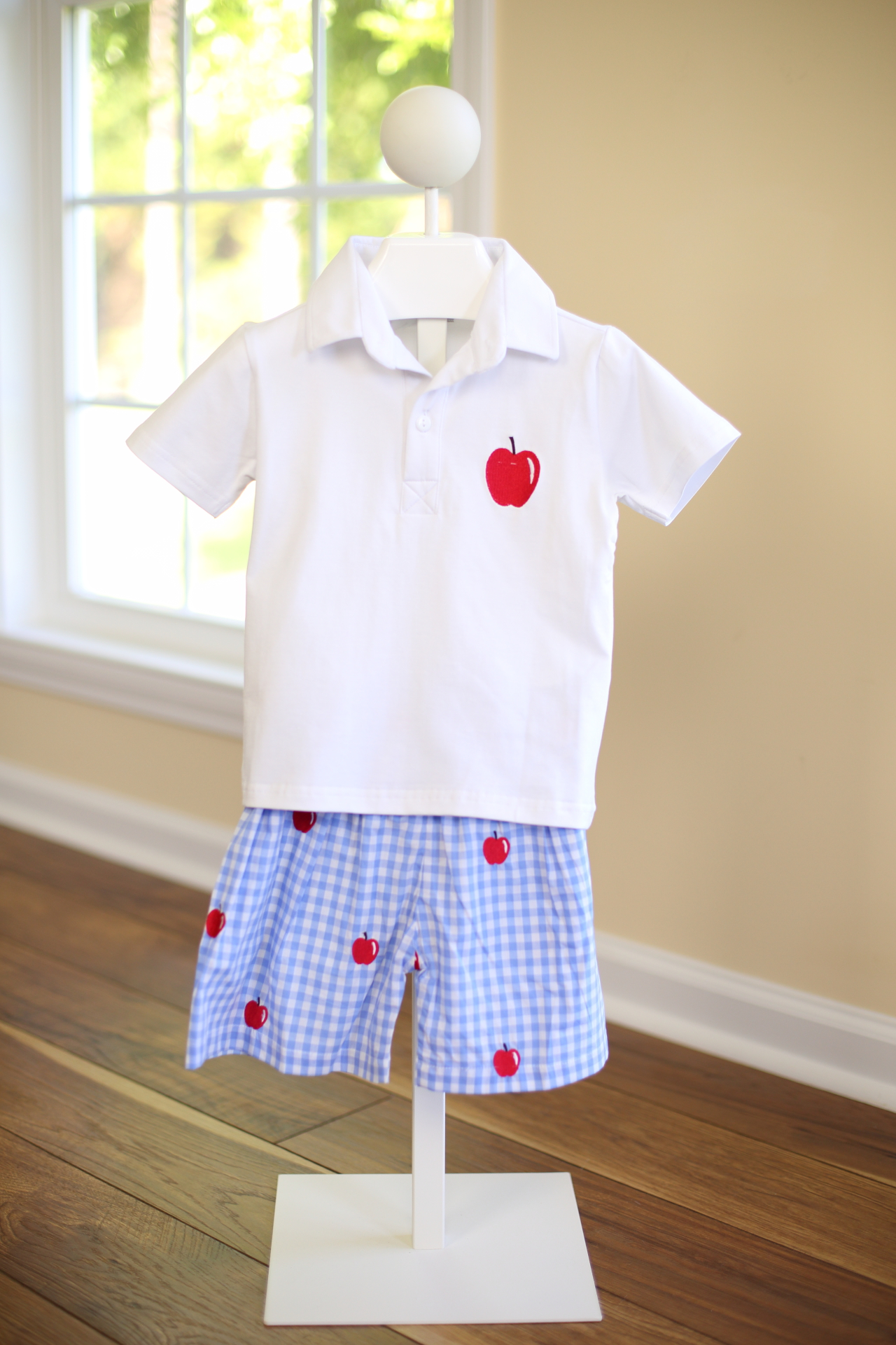 Boys Apple Short & Polo Set