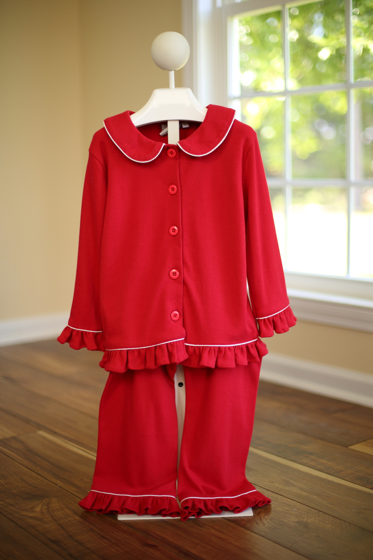 Girls Christmas Ruffle Pajama