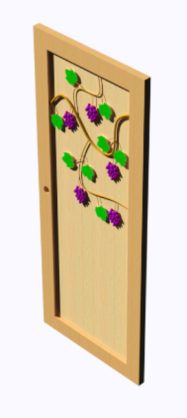 Detailed Bedroom Door
