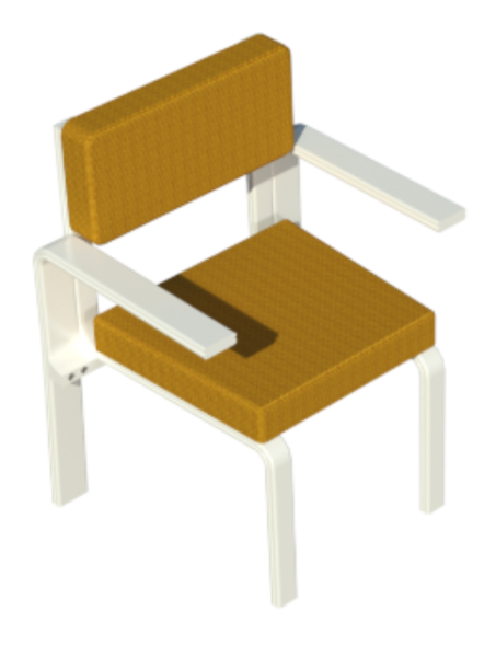 Woven cushions and PVC frame Patio Chair
