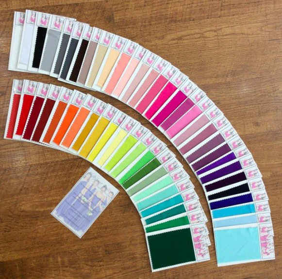 Our colour selection for the Multiway gowns