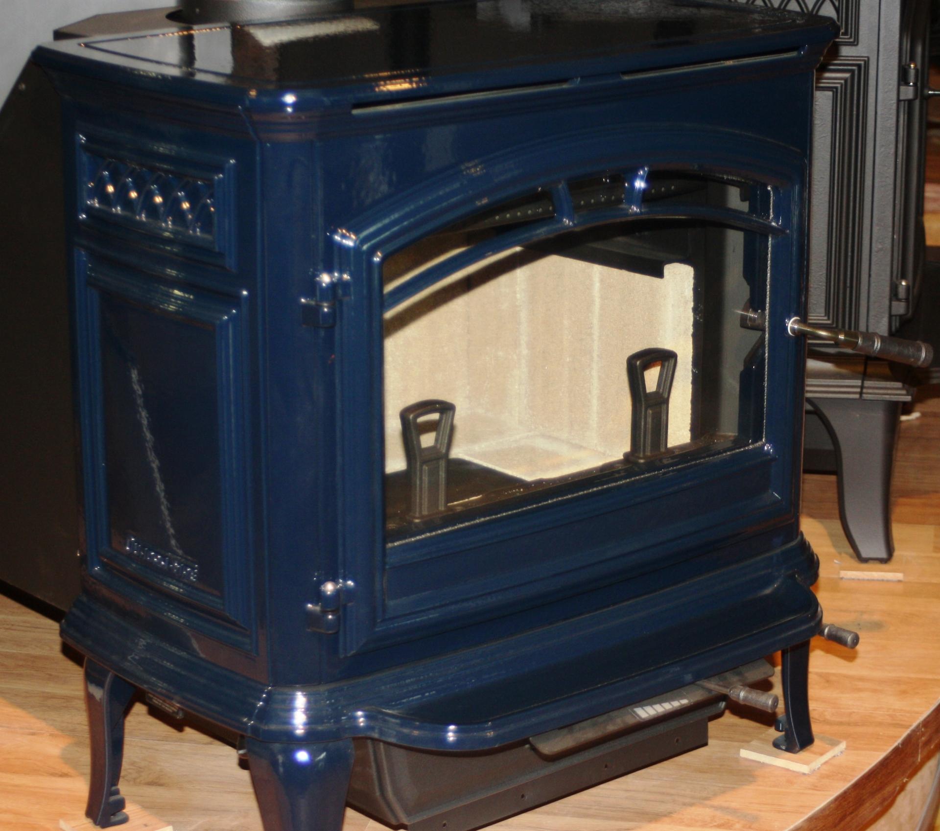 Quadra-Fire Explorer II Wood Stove, Blue Enamel