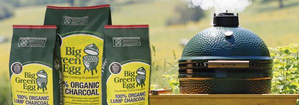 Big Green Egg and Organic Lump Charcoal