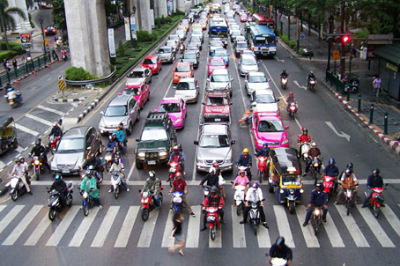 Bangkok Traffic at Ratchadamri