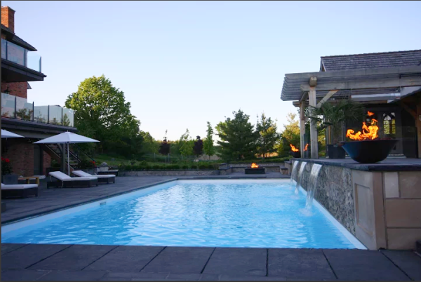 Residential inground swimming pools