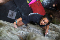 Get Lucky V1, Englishman Boulders, Revelstoke BC