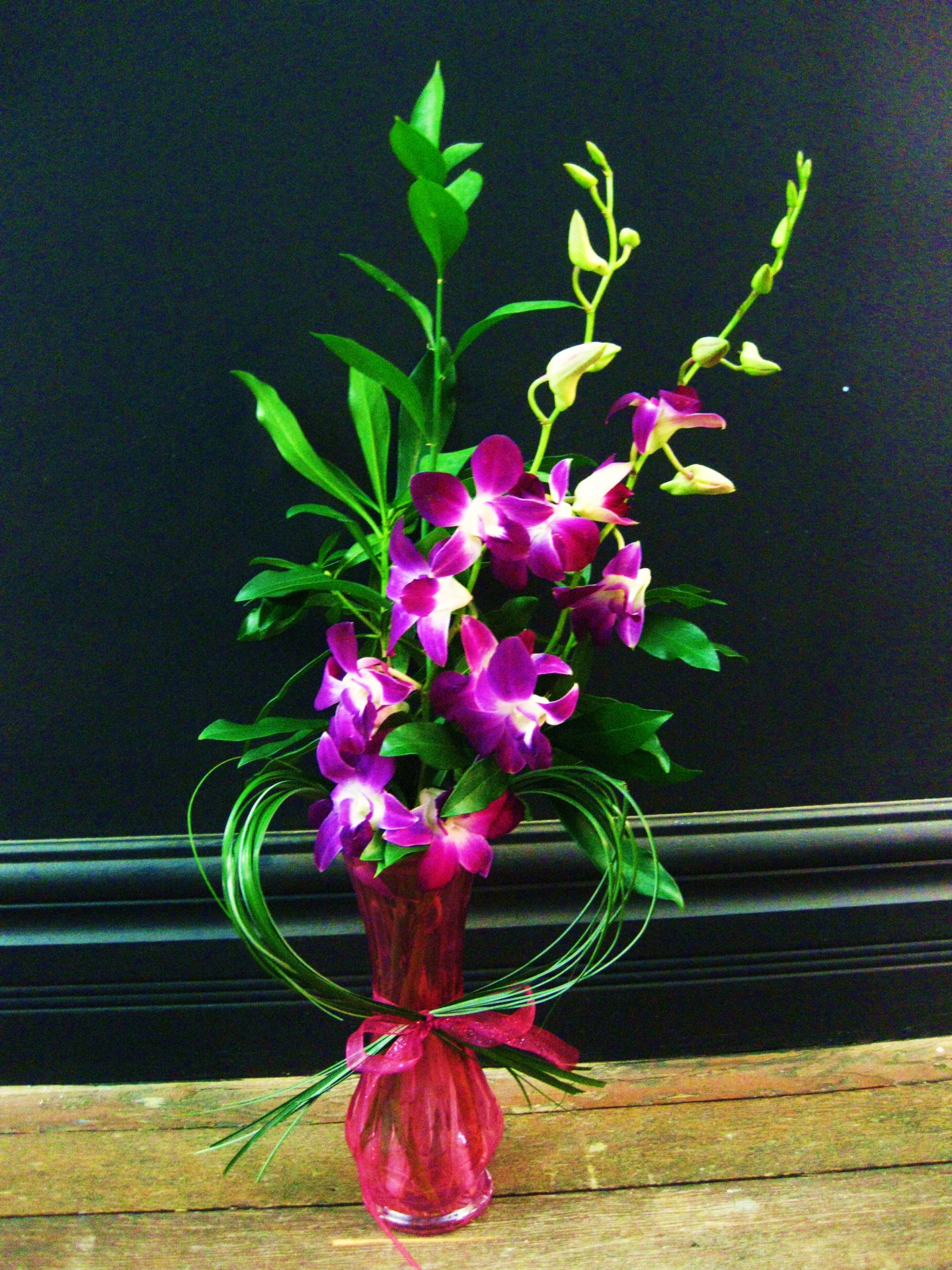 orchid with an accent