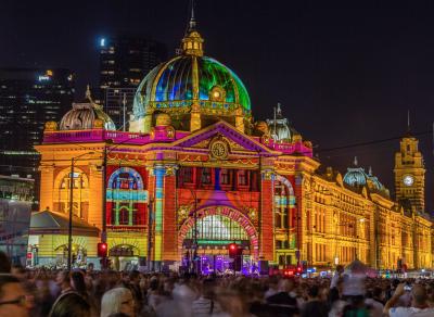 Flinders Street Station, White Night, Melbourne