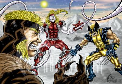 Wolverine Vs. Sabretooth & Omega Red