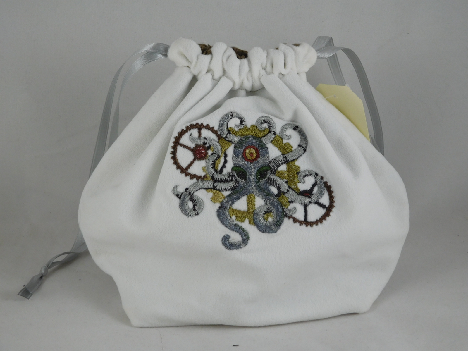 Steampunk Octopus Embroidered Bag