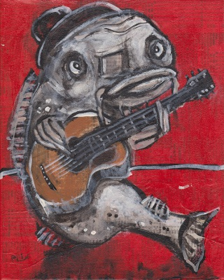 Blues Cat Guitar