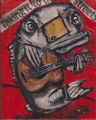 Blues Cat Guitar #1