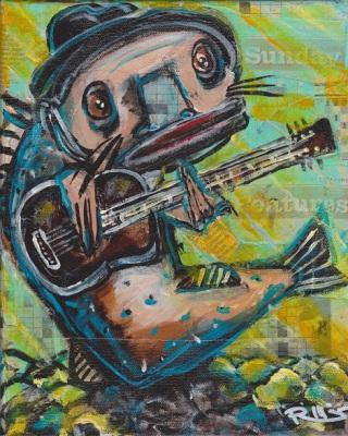 Blues Cat Guitar #2