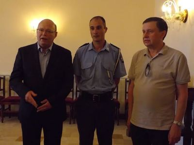 IPA Malta National President with the Commissioner of Police