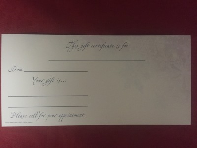 HOLIDAY GIFT CERTIFICATES (B)
