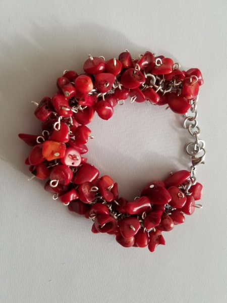 Red Coral Chipped