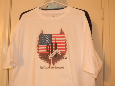 direct to garment,memorial, commemorate, september 11th
