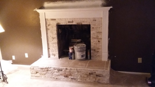 fireplace work in progress