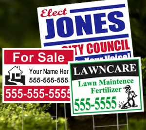 50 FULL COLOR YARD SIGNS $200 (+$1/STAKE)