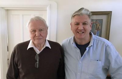 McIntyre with Sir David Attenborough