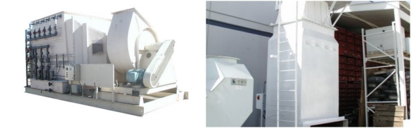 Fume Scrubbers - horizontal and vertical