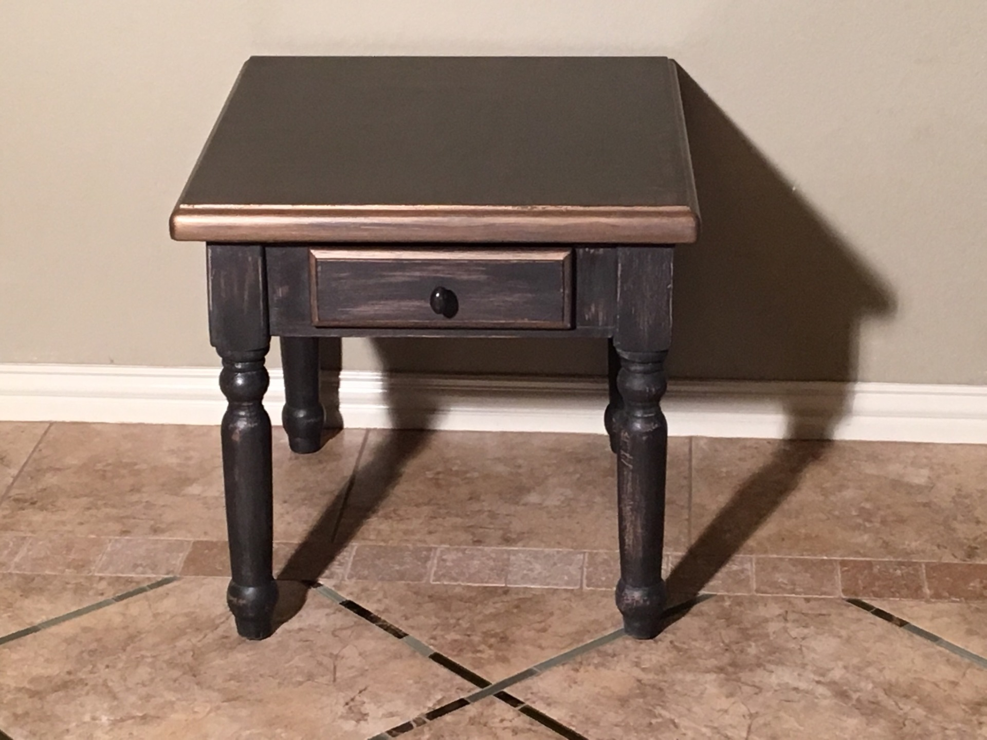 Bronzed Side Table