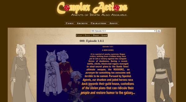 Web Comic Site