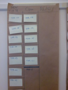 The first Ready Kanban