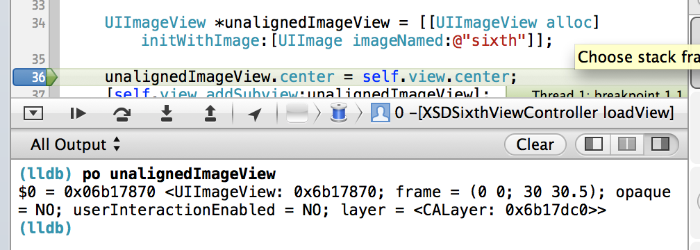 Fractions when logging in Xcode. .5 values are not always a problem though.