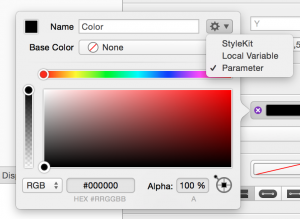 Set color to Parameter