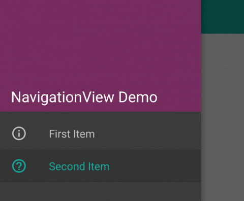 Android NavigationView