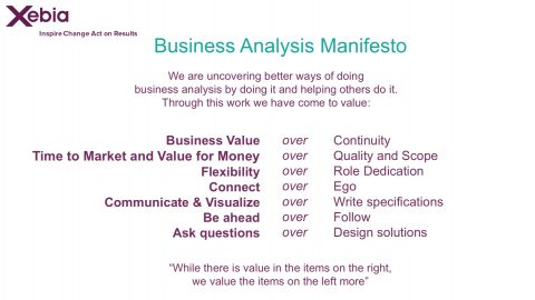 Business Analysis Manifesto 2012