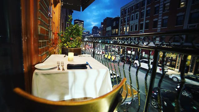 At This Two Floor Italian Restaurant Romeos And Juliets Can Book A Single Table For On Small Balcony