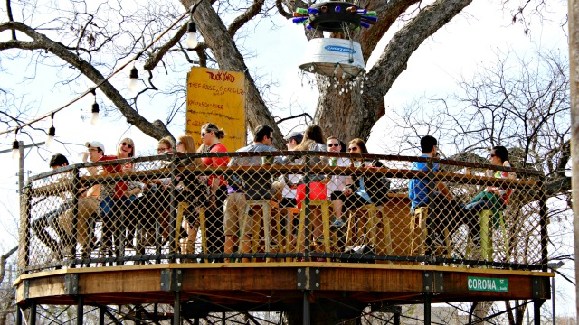 Start Your Visit To This Lowest Greenville Food Truck Park In A Tree Because You Won T Want Make The Precarious Climb After Too