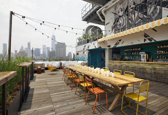 New Spots For Outdoor Drinking In NYC Zagat - Outdoor communal table