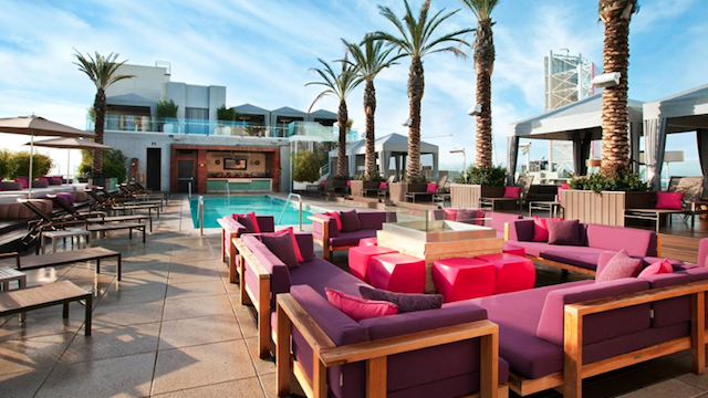Though Considerably Smaller Than Any Resort This Rooftop Pool And Bar Hits Vegas Levels During Peak Summer Months Hotel Guests Have First Dibs On