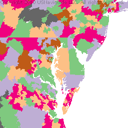 Virginia zip code boundary map va sciox Choice Image